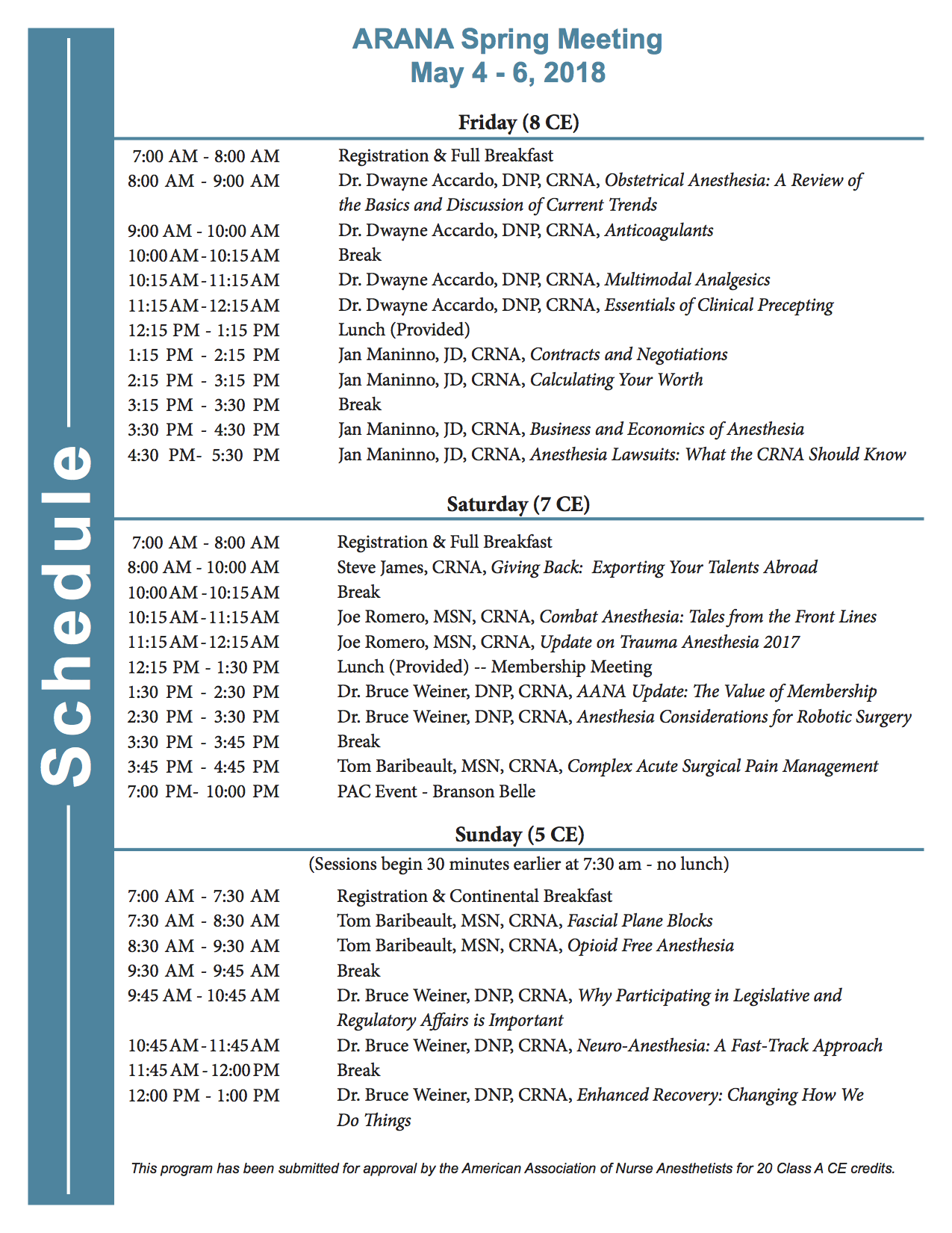 ARANA Spring Meeting - Branson map pdf